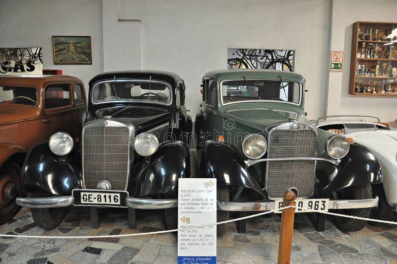 Samling av bilar Salvador Claret arkivbilder