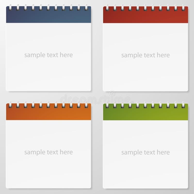Samling av den pappers- anmärkningen för 4 färg. royaltyfri fotografi