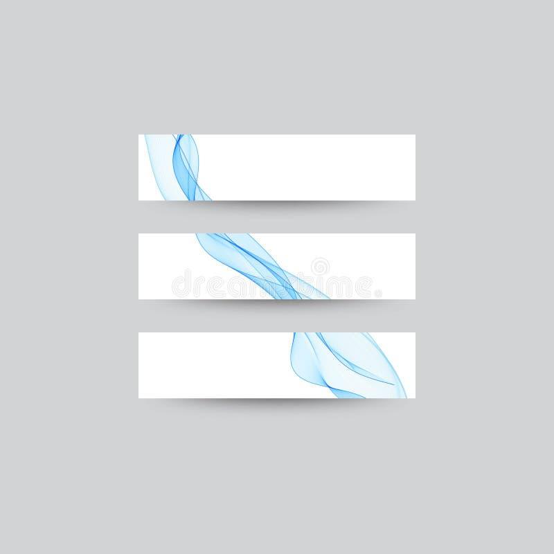 Samling av den trifold broschyren med vågbakgrund eps 10 stock illustrationer