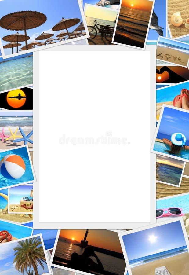 Samling av foto för sommarsemester fotografering för bildbyråer