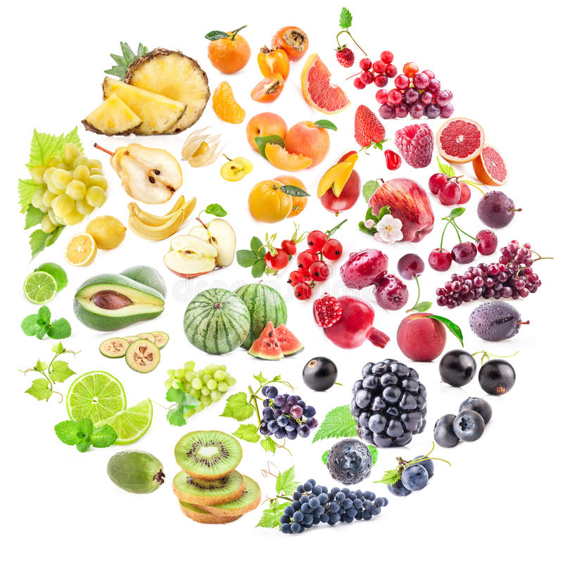Samling av frukter arkivfoton