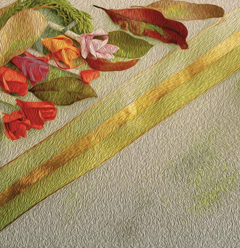 Samling av gamla sidor Handgjort pappers- hantverk Guld- snöra åt på ljust papper Goda för affisch, hälsningar, kort, teman royaltyfria foton