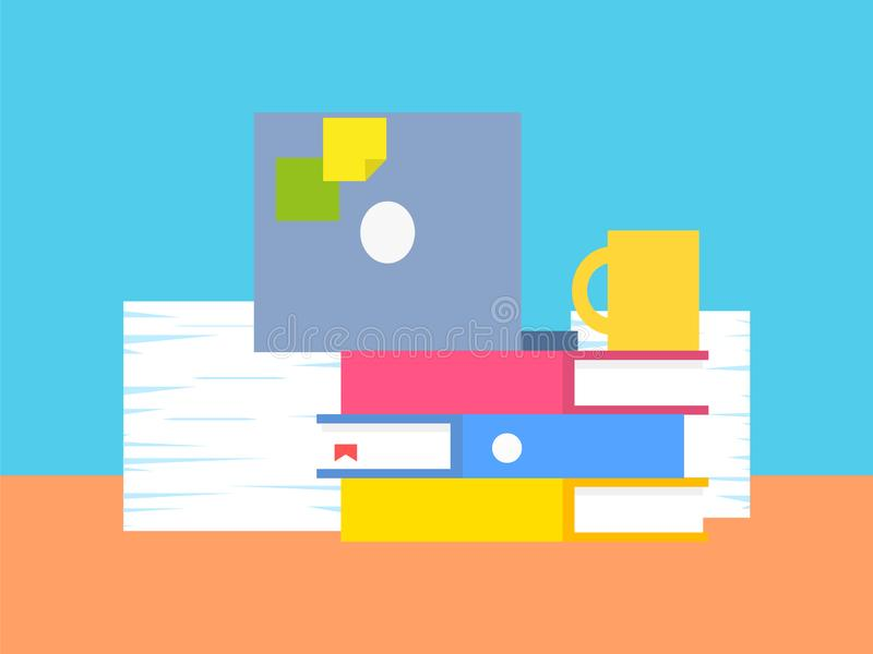 Samling av illustrationen för kontorsmaterialvektor vektor illustrationer