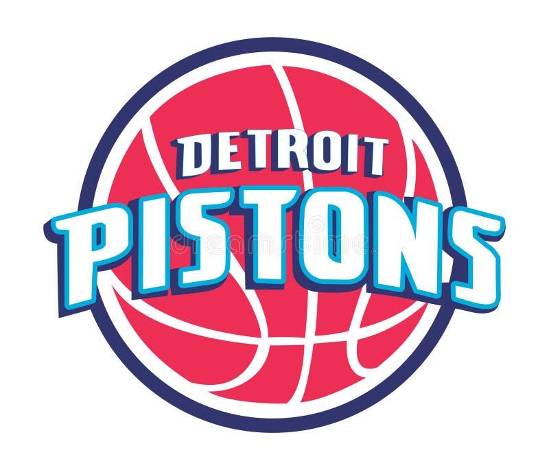 Samling av illustrationen för vektor för logoer för NBA-lag stock illustrationer