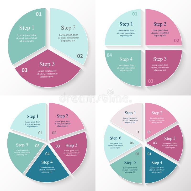 Samling av Infographic mallar för affär royaltyfri illustrationer