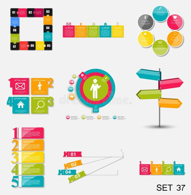 Samling av Infographic mallar för affärsvektorn Illustra vektor illustrationer