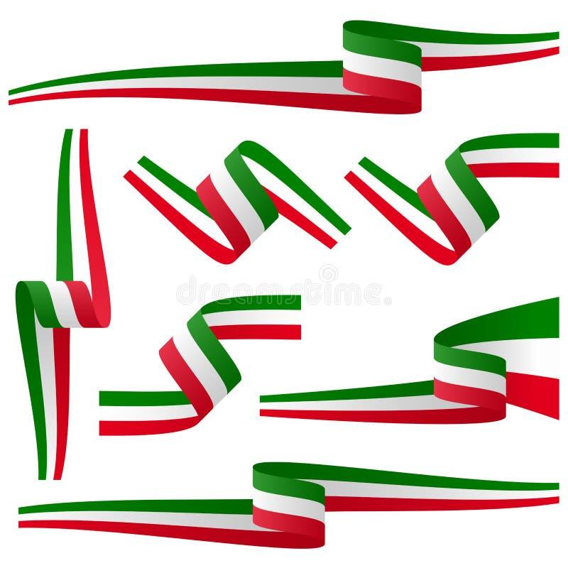 Samling av italienska baner för landsflagga vektor illustrationer