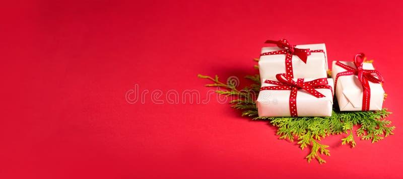Samling av julklappaskar arkivfoto