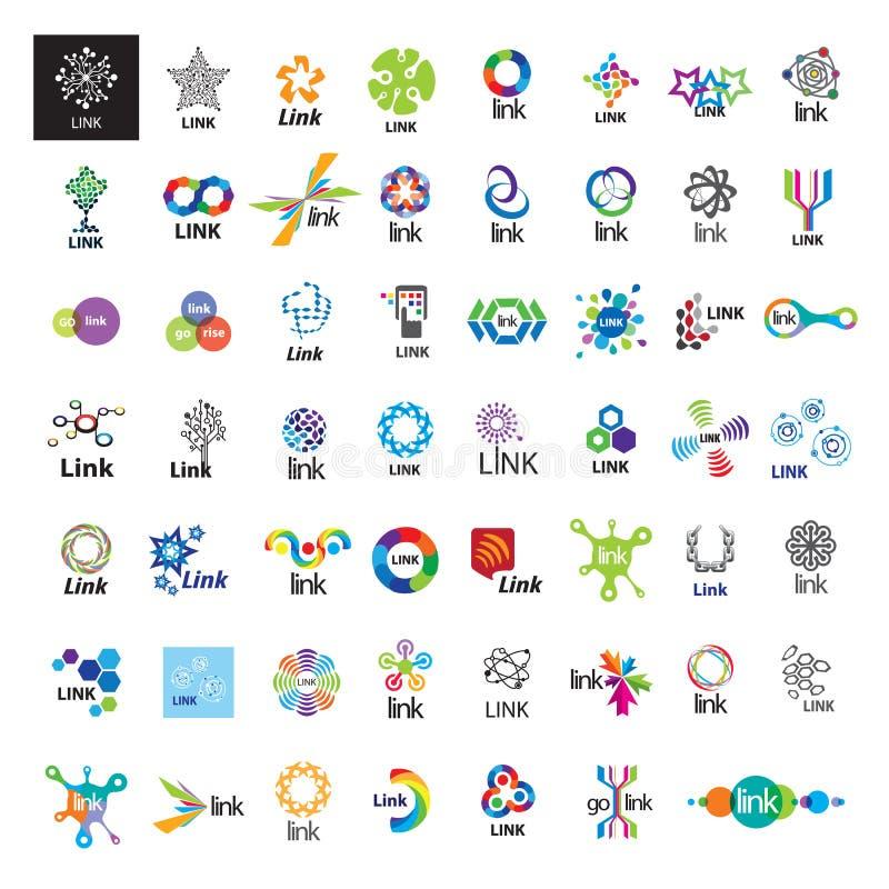 Samling av kommunikationen för vektorlogosammanlänkning arkivbilder