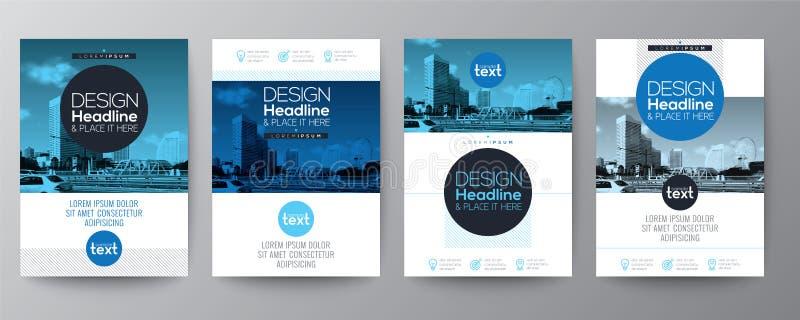 Samling av mallen för design för orientering för räkning för affischreklambladbroschyr vektor illustrationer
