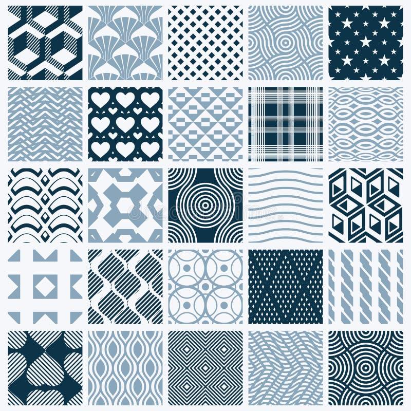 Samling av sömlösa sammansättningar för vektorabstrakt begrepp, symmetrisk nolla royaltyfri illustrationer