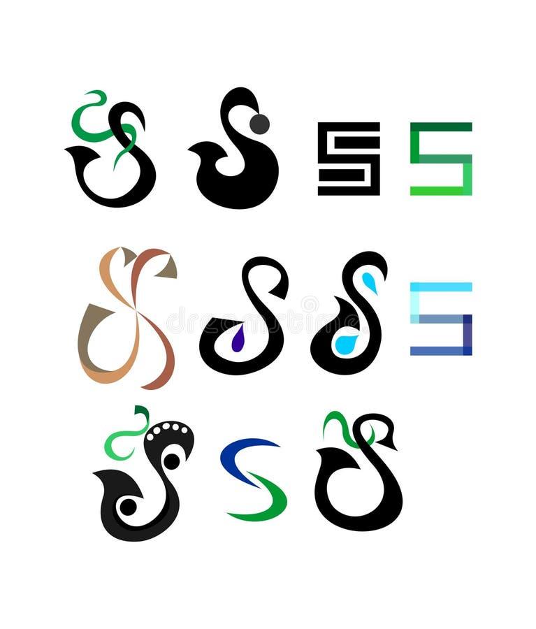 Samling av s-logoer vektor illustrationer