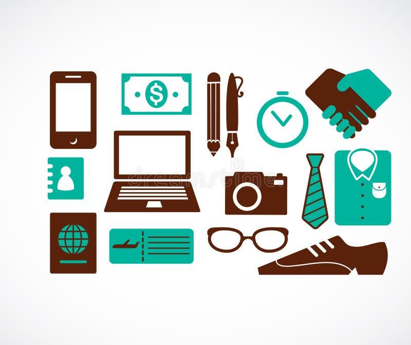 Samling av symboler för affärslopp vektor illustrationer