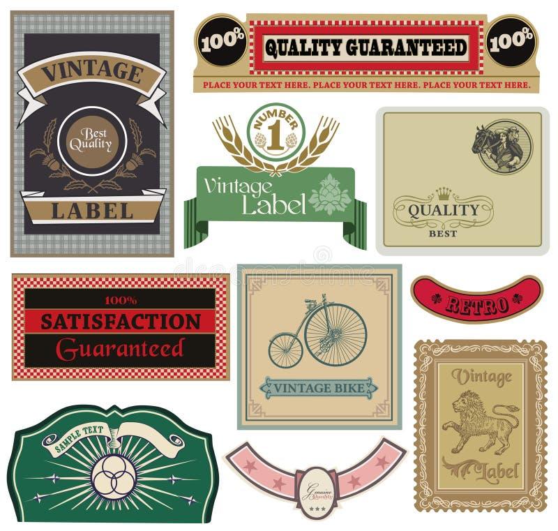 Download Samling Av Tappningetiketter Vektor Illustrationer - Illustration av etikett, skyddsremsa: 27282407