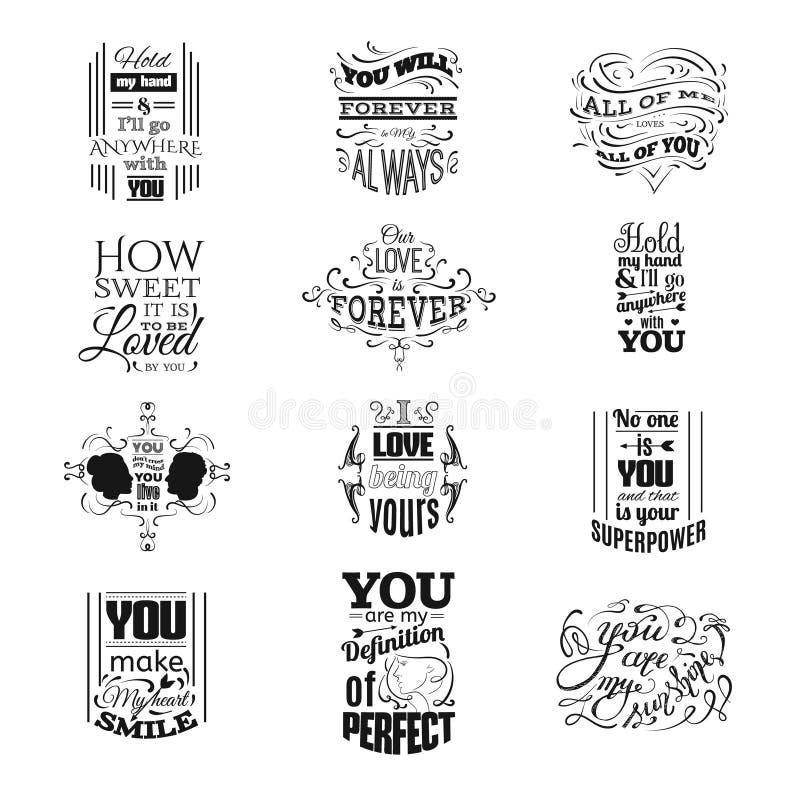 Samling av typografisk bakgrund för citationstecken stock illustrationer