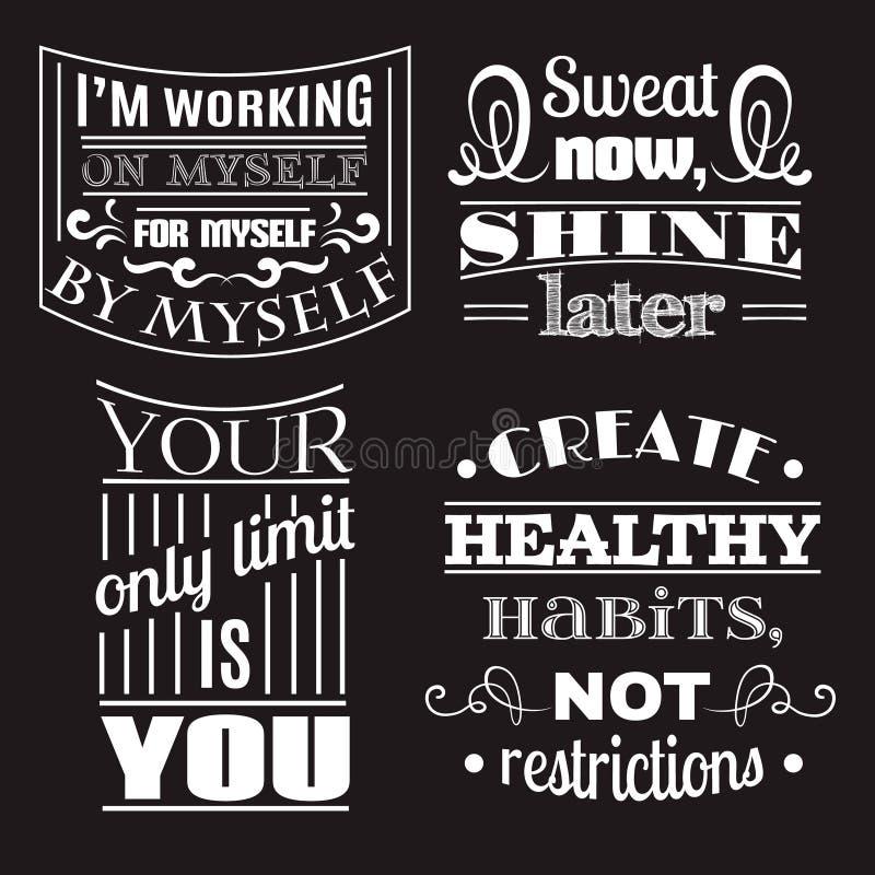 Samling av typografisk bakgrund för sunda citationstecken vektor illustrationer