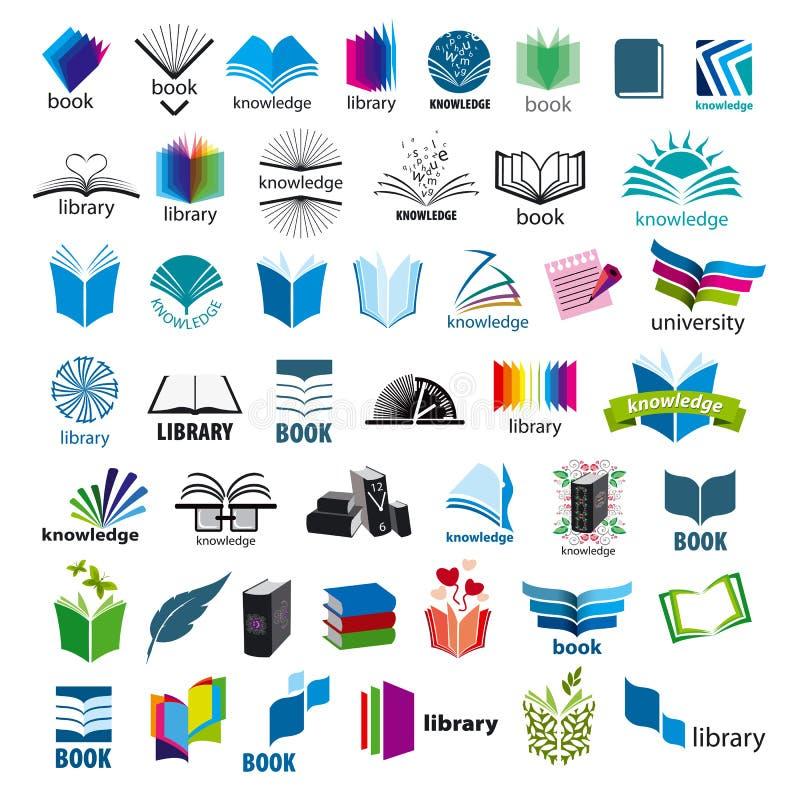 Samling av vektorlogoböcker royaltyfria foton