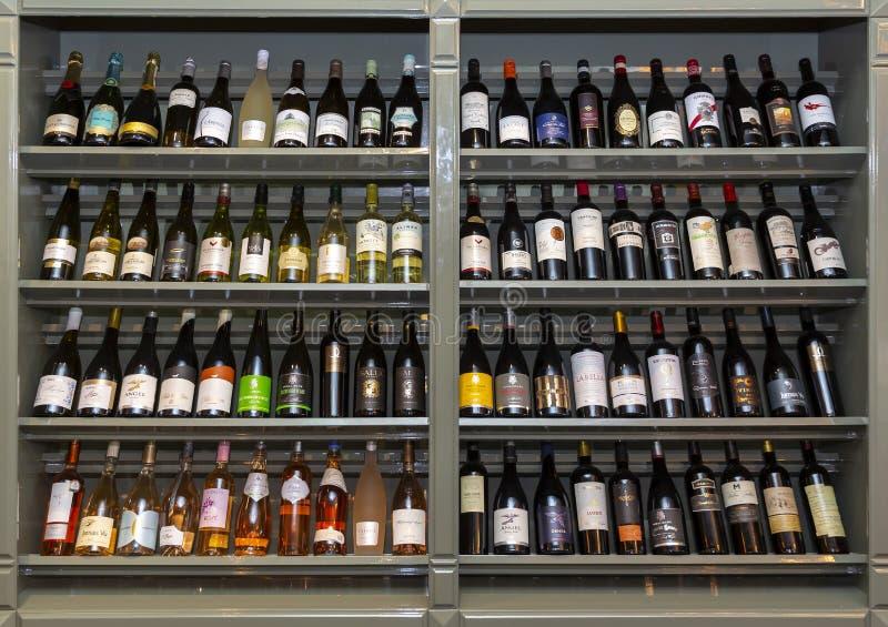 Samling av viner arkivbild