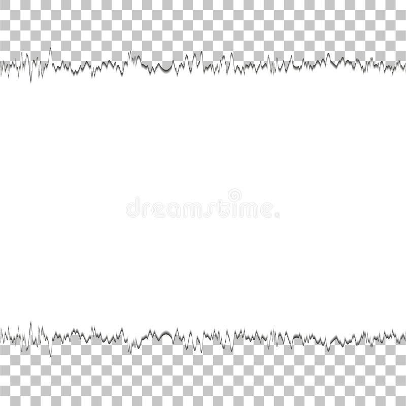 Samling av vitt rivet papper också vektor för coreldrawillustration royaltyfri illustrationer