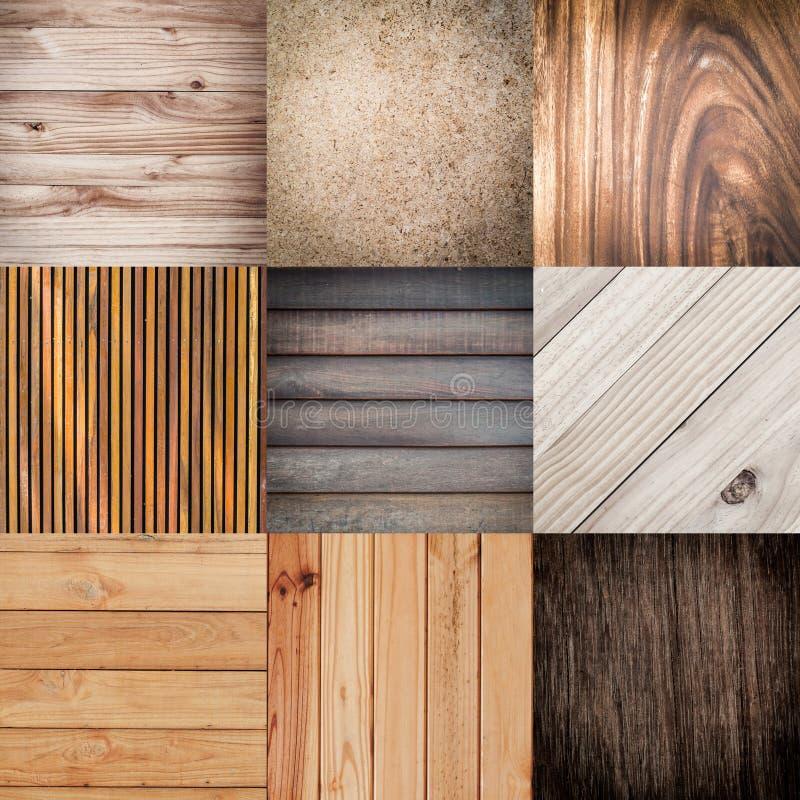 Samling av wood texturbakgrund royaltyfri bild