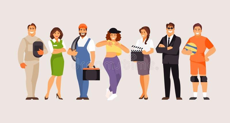 Samling av yrken, del 5 stock illustrationer