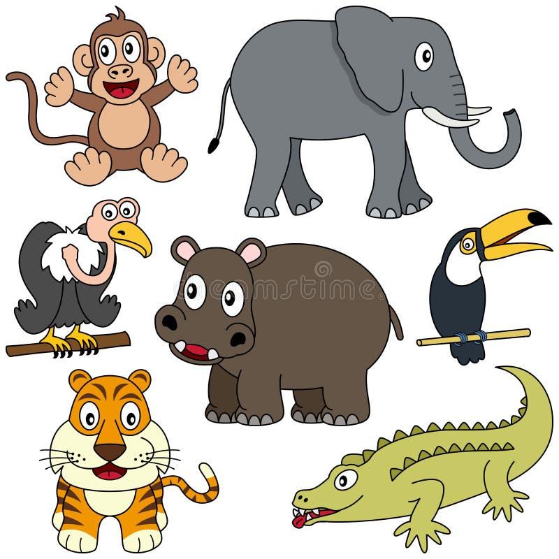 samling för 2 afrikansk djur stock illustrationer