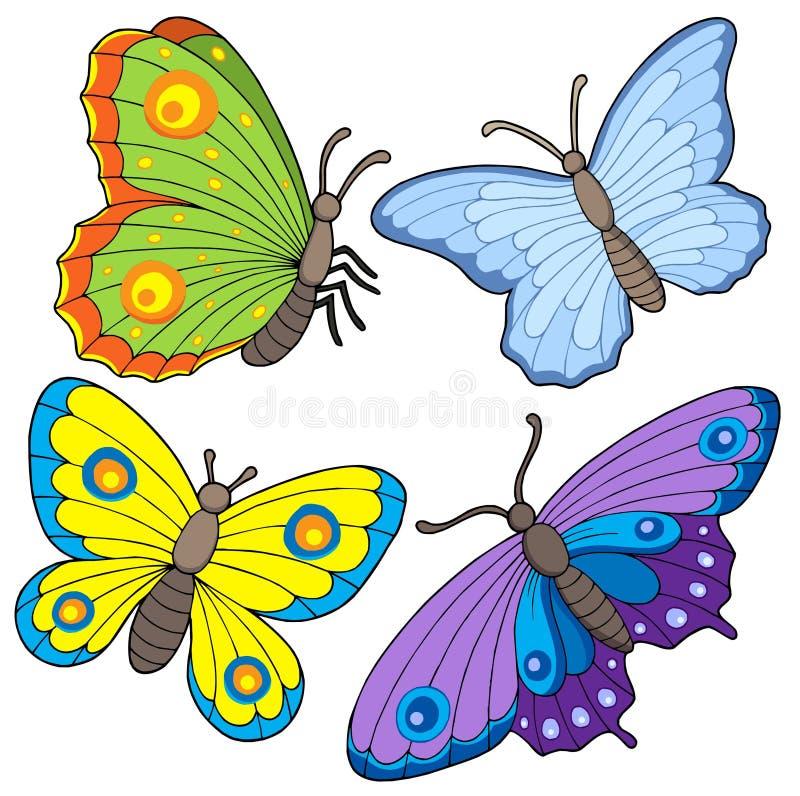 samling för 2 fjäril royaltyfri illustrationer