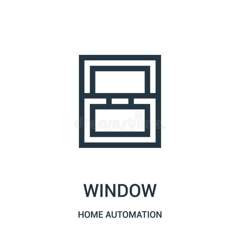 samling för automation för fönstersymbolsvektor hemifrån Tunn linje illustration f?r vektor f?r f?nster?versiktssymbol Linj?rt sy stock illustrationer