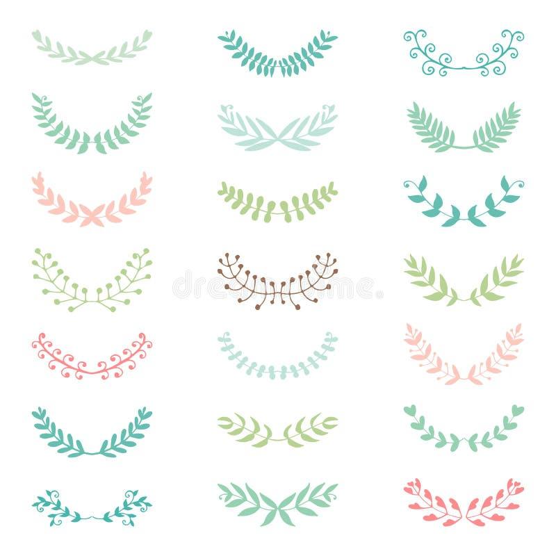 Samling för brölloptappningbeståndsdelar royaltyfri illustrationer