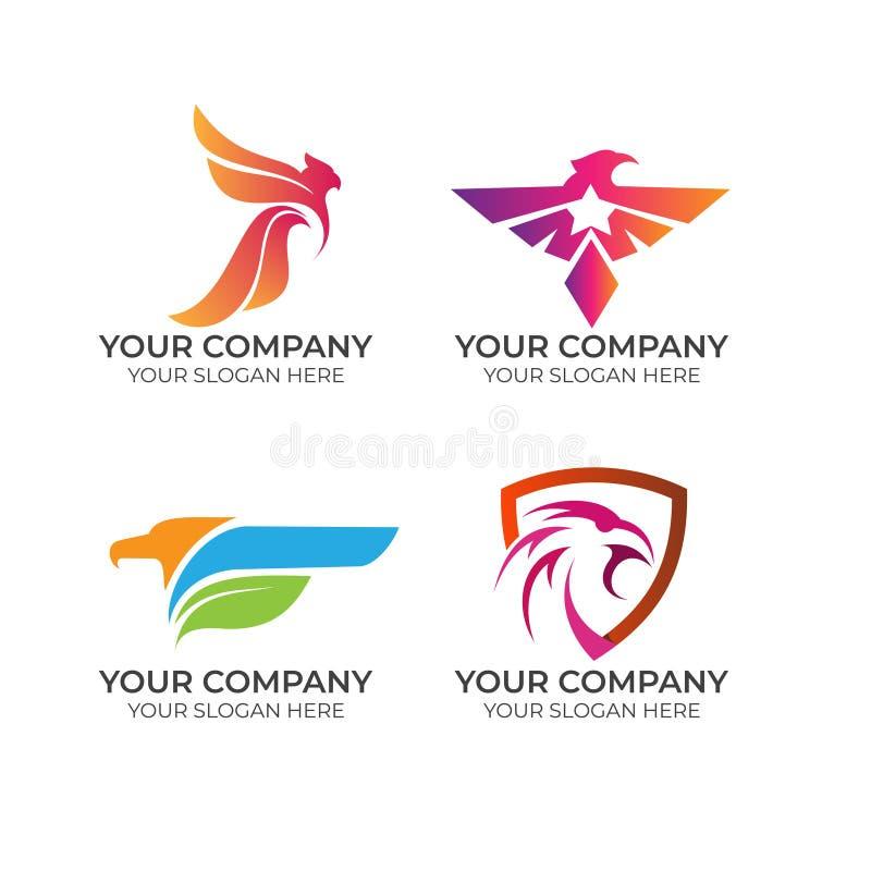 Samling för Eagle affärslogo stock illustrationer