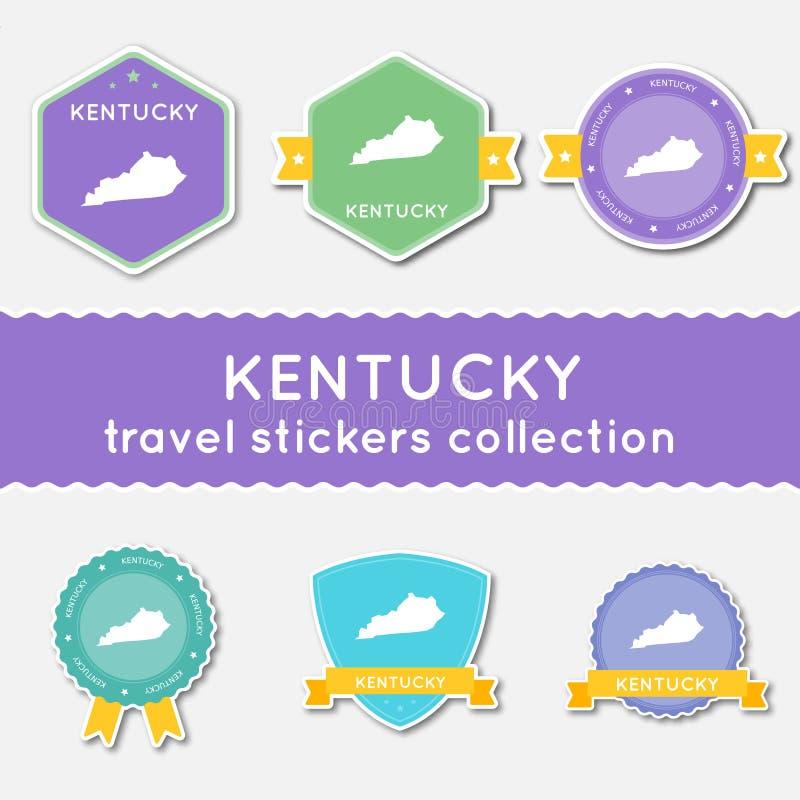 Samling för Kentucky loppklistermärkear royaltyfri illustrationer