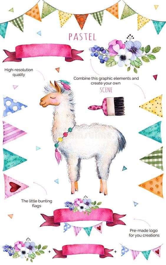 Samling för lycklig födelsedag! stock illustrationer