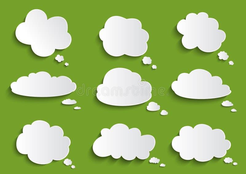 Samling för molnanförandebubbla stock illustrationer
