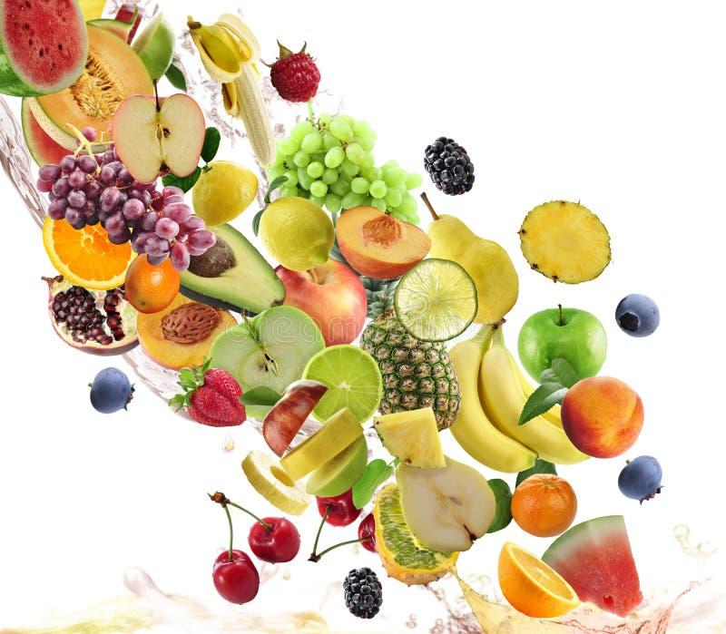 Samling för nya frukter royaltyfri bild