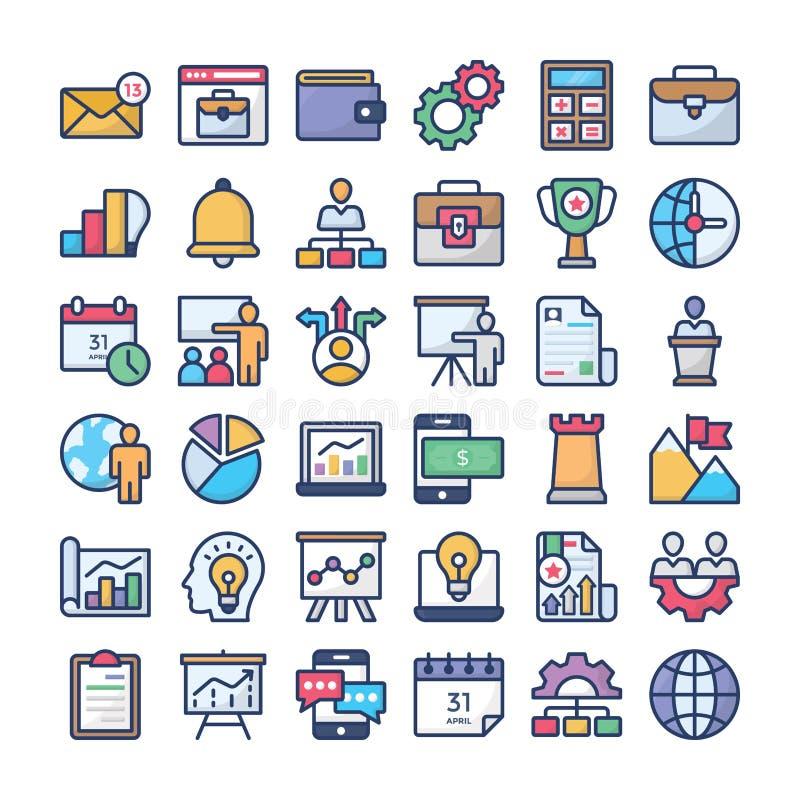 Samling för symbol för affärsledning royaltyfri illustrationer