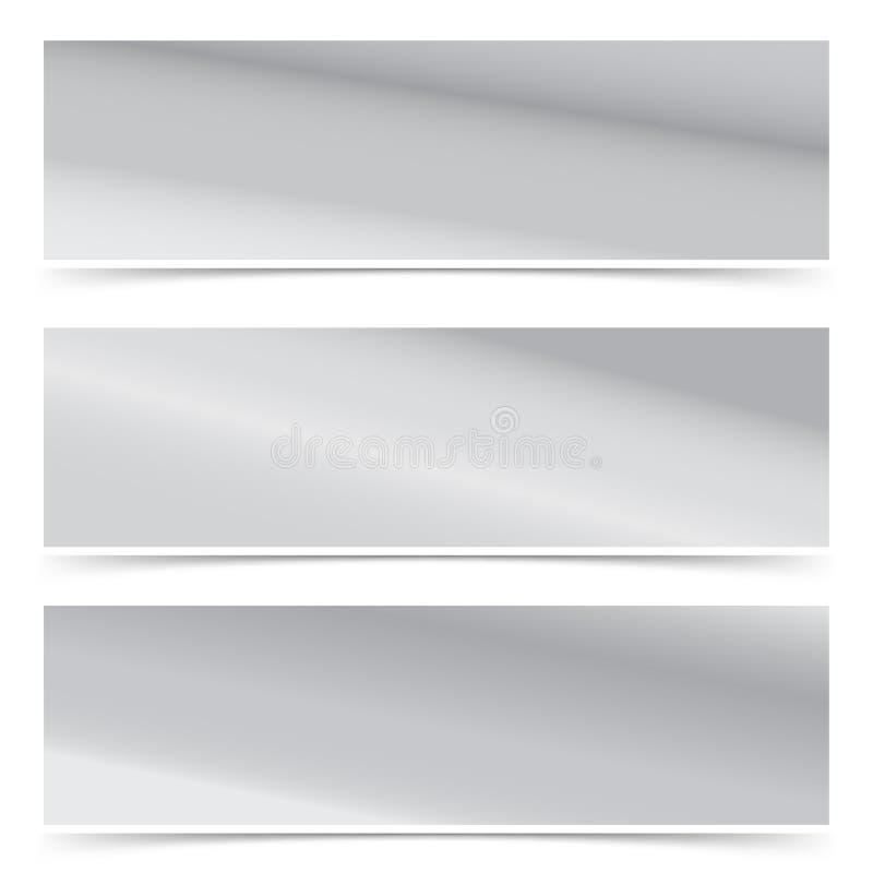 Samling för titelrad för rengöringsduk för metallisk modelutning modern abstrakt royaltyfri illustrationer