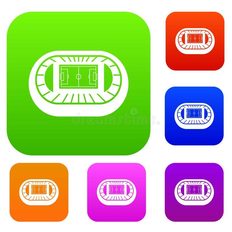 Samling för uppsättning för bästa sikt för stadion vektor illustrationer