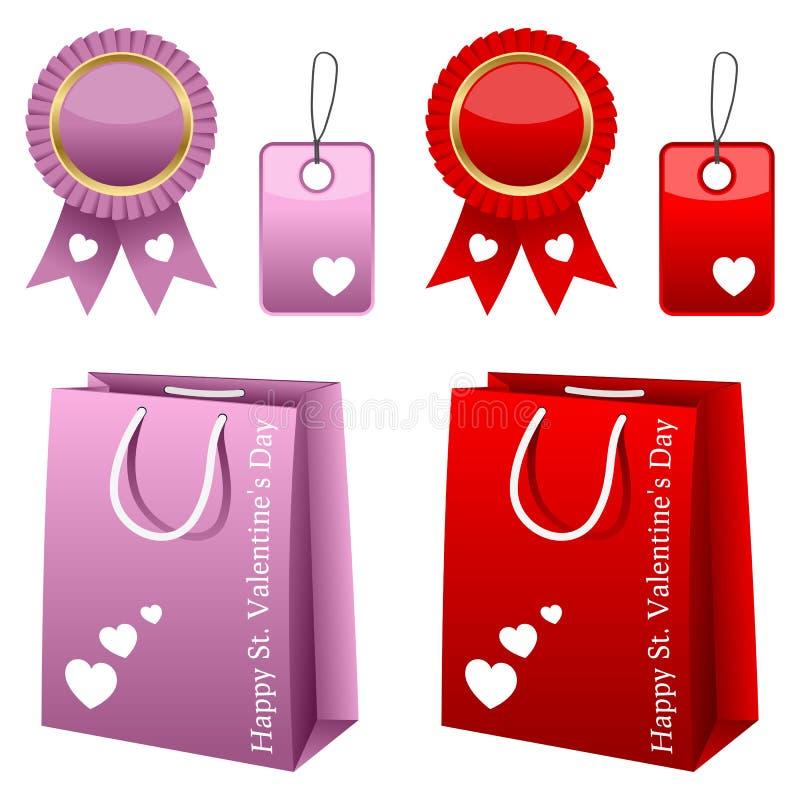 Samling för valentindagförsäljning royaltyfri illustrationer