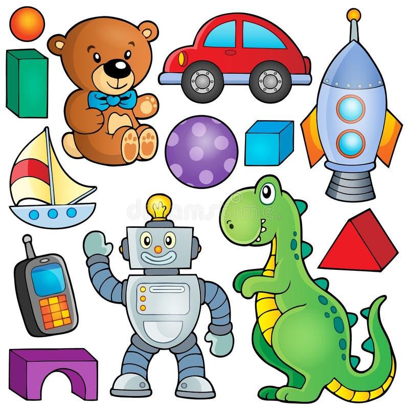 Samling med leksaktema 2 stock illustrationer