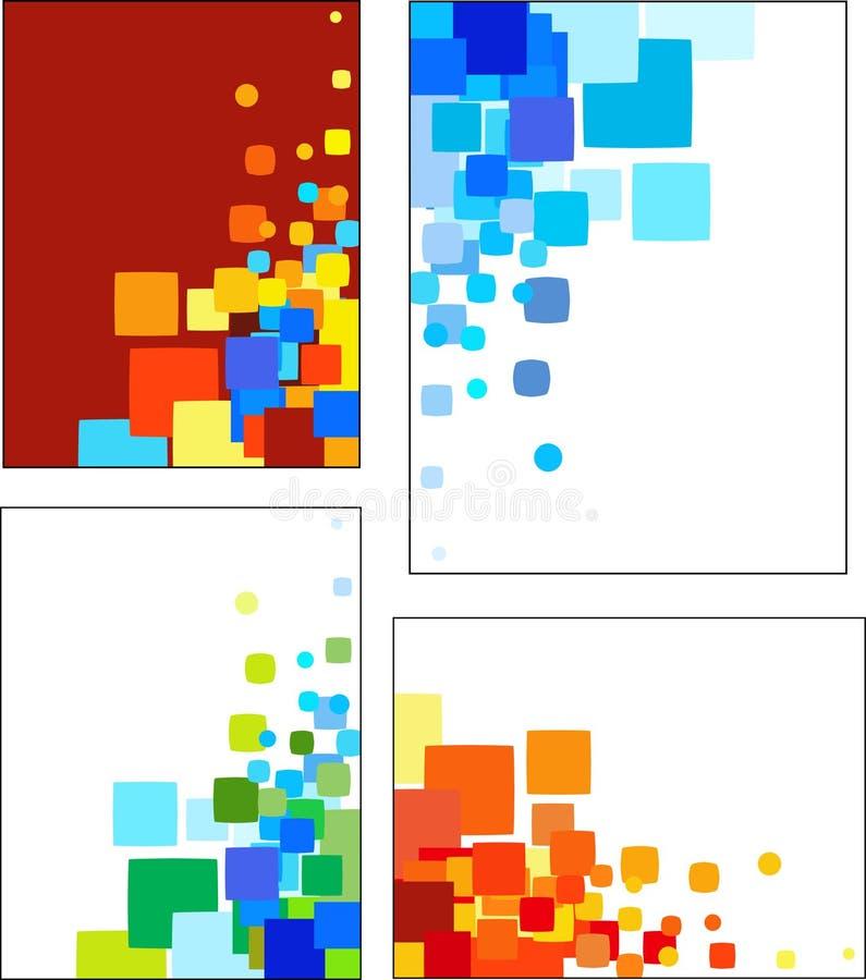 Samlingar av mosaik utformade vektormodeller royaltyfri illustrationer