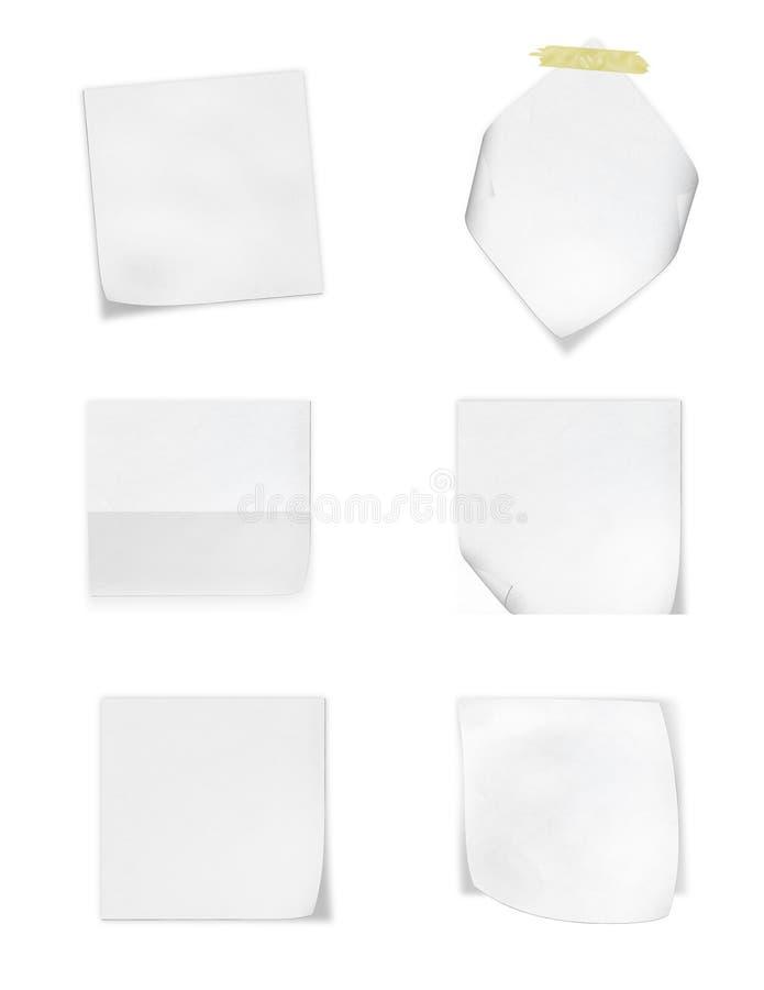 Samlingen av olik vit noterar legitimationshandlingar på vitbakgrund royaltyfri foto