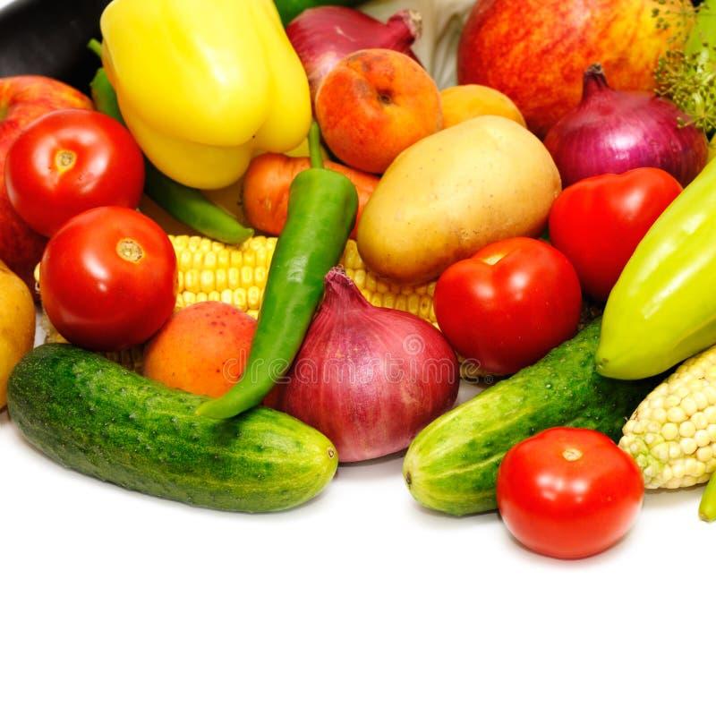 samlingen bär fruktt grönsaker royaltyfria foton