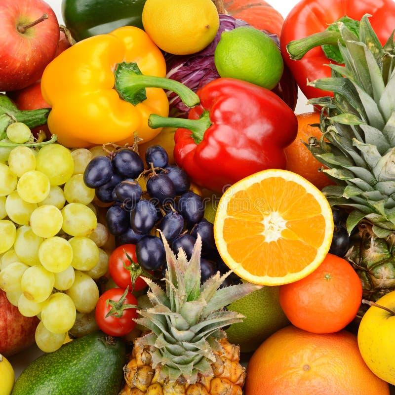 samlingen bär fruktt grönsaker royaltyfri bild