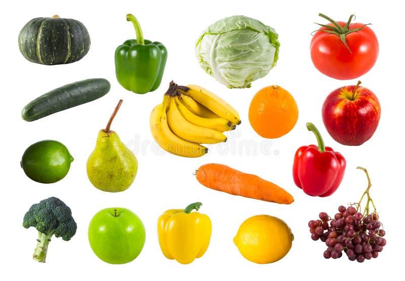 samlingen bär fruktt grönsaker arkivbilder