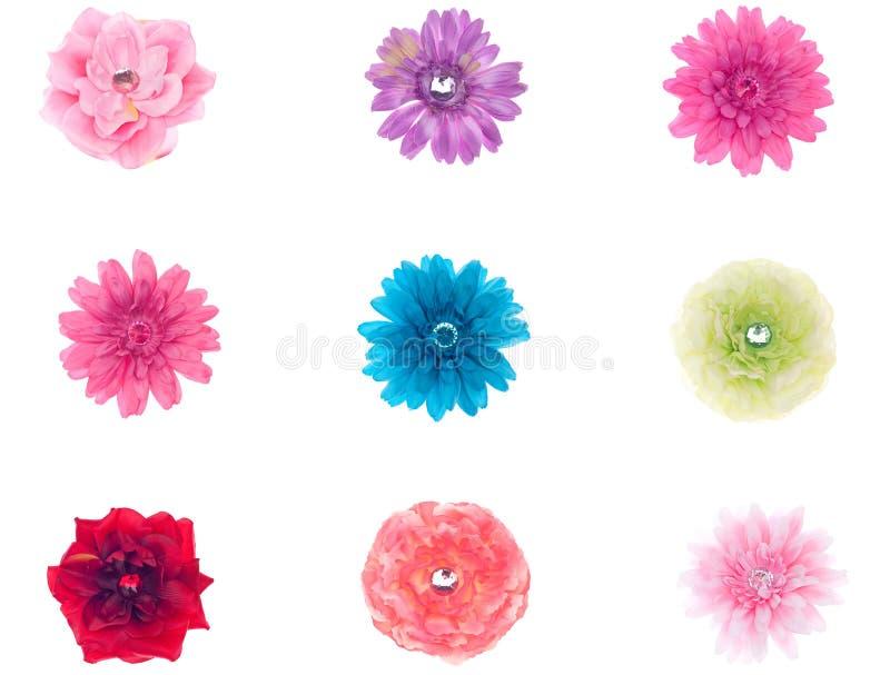 samlingen blommar silk arkivbilder