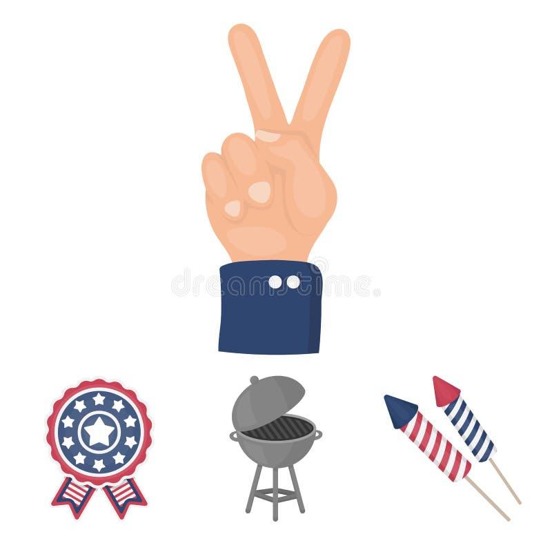 Samlingen för uppsättning för dag för patriot` s stock illustrationer