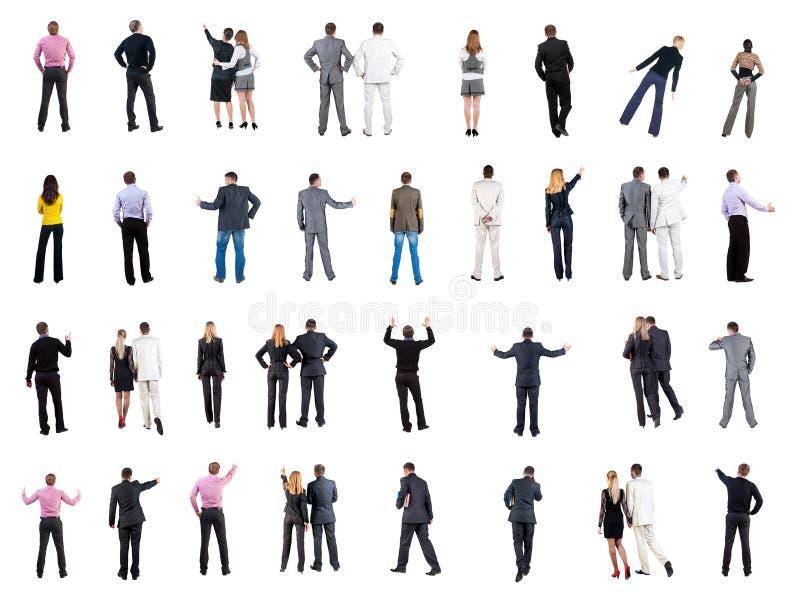 Samlingsbaksidasikt av affärsfolk fotografering för bildbyråer