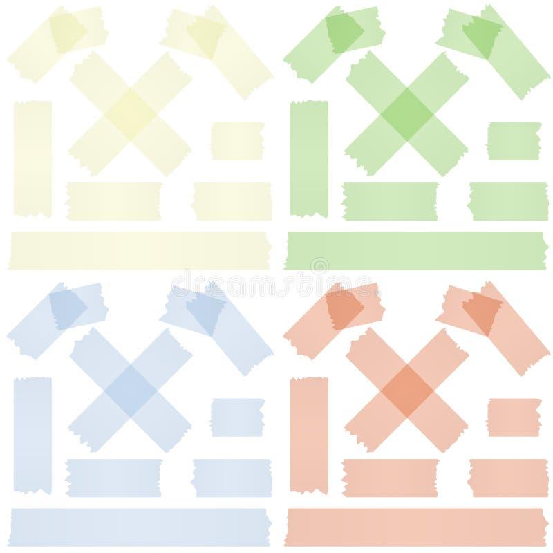 Samlingsband/tejp royaltyfri illustrationer