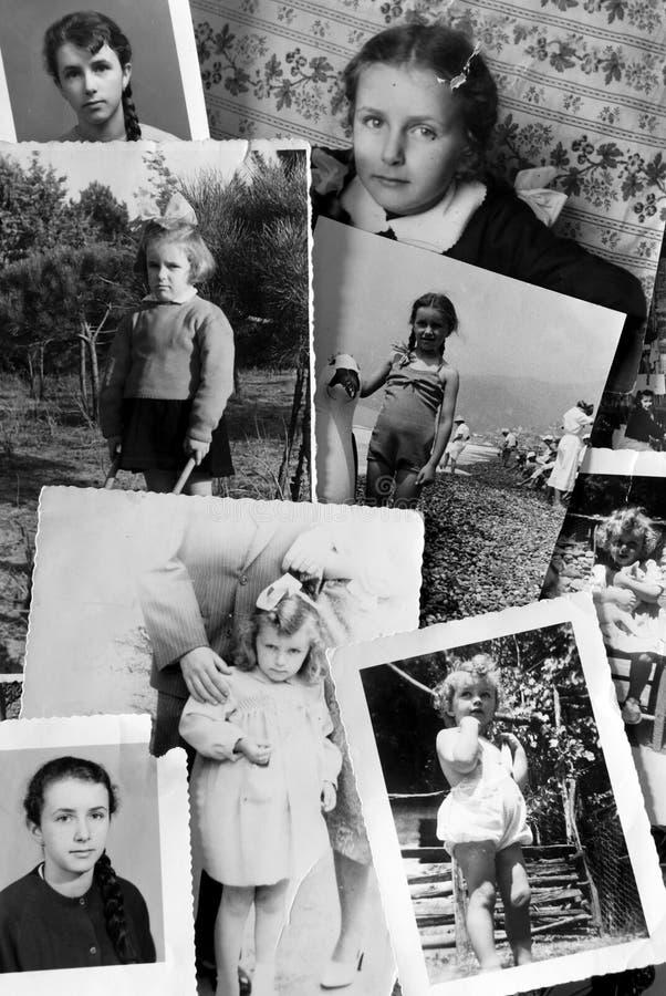 samlingsfototappning royaltyfria bilder