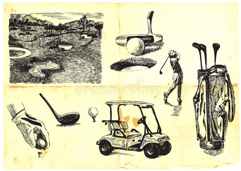 samlingsgolf royaltyfri illustrationer